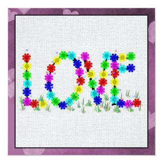 Hippie Love Flowers Card