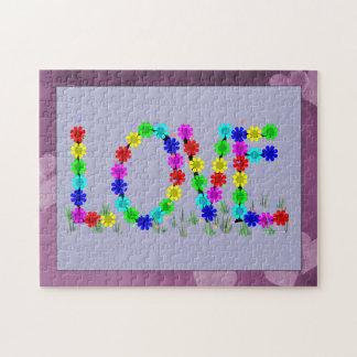 Hippie Love Flowers Jigsaw Puzzle