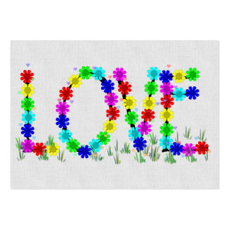 Hippie Love Flowers Large Business Card