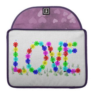 Hippie Love Flowers Sleeves For MacBooks