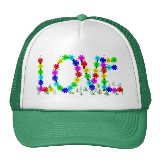 Hippie Love Flowers Trucker Hat