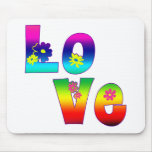 Hippie LOVE Mouse Pad