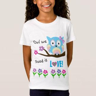 Hippie love owl T-Shirt