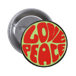 hippie love peace dicho pin