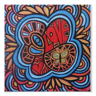 Hippie Love Posters