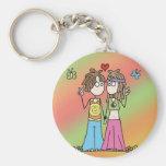 Hippie Lovers Keychain