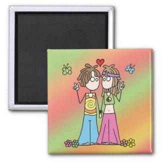 Hippie Lovers Magnet