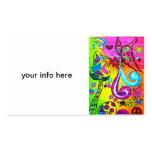 hippie magic mushroom business card