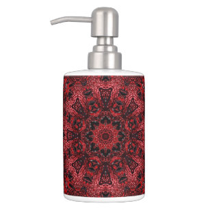 Burgundy Mandala Bath Accessory Sets