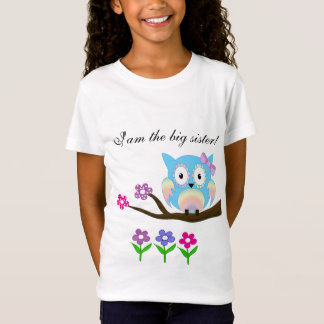 Hippie multicolored big sister owl T-Shirt