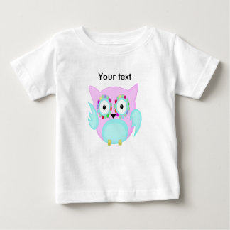 hippie multicolored floral owl baby T-Shirt