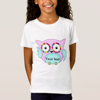 hippie multicolored floral owl T-Shirt