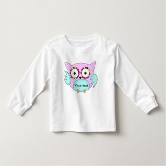 hippie multicolored floral owl toddler t-shirt