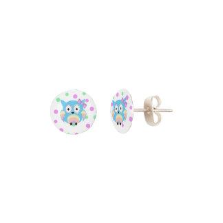 Hippie multicolored owl earrings