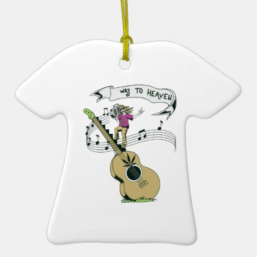 hippie music retro vector design Double-Sided T-Shirt ceramic christmas ornament