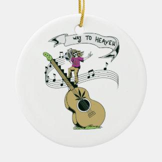 hippie music retro vector design christmas ornament