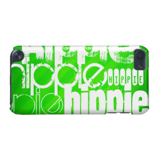 Hippie; Neon Green Stripes iPod Touch (5th Generation) Cover