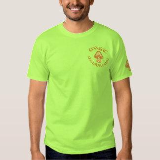 Hippie Paisley Mushroom, Mushroom, Magic Embroidered T-Shirt