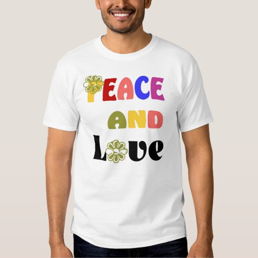 hippie peace and love t shirt zazzle. Black Bedroom Furniture Sets. Home Design Ideas