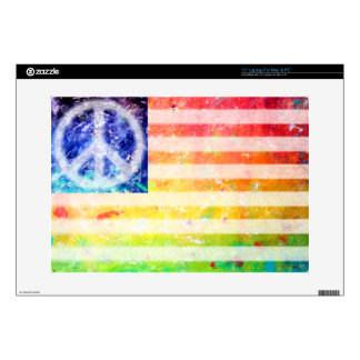 Hippie Peace Freak Flag Decal For Laptop
