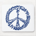 Hippie Peace in all Languages Mousepads