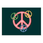 Hippie Peace Sign Large Business Cards (Pack Of 100)