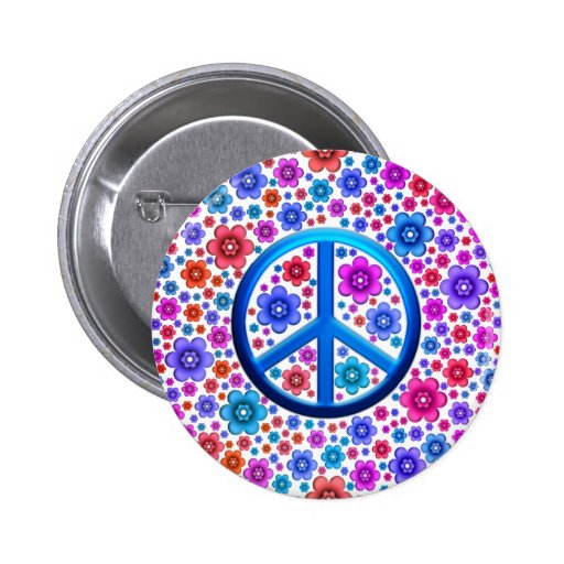 Hippie Peace Sign Pins