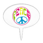 Hippie Peace Sign Cake Picks