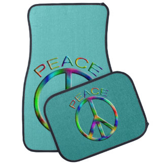 Hippie Peace Sign Car Mat Set