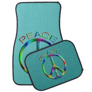 Hippie Peace Sign Car Mat Set