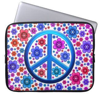 Hippie Peace Sign Computer Sleeve