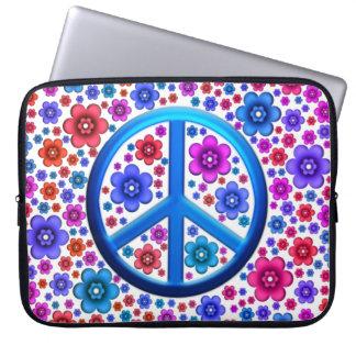 Hippie Peace Sign Laptop Sleeve