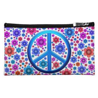 Hippie Peace Sign Makeup Bag