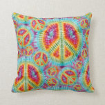 Hippie Peace Sign Pillow