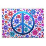 Hippie Peace Sign Place Mats