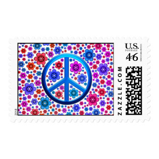Hippie Peace Sign Postage Stamp