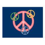 Hippie Peace Sign Postcard