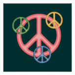 Hippie Peace Sign Poster