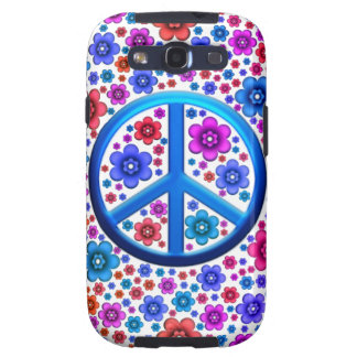 Hippie Peace Sign Samsung Galaxy SIII Case