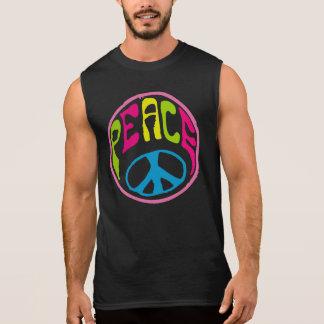 Hippie Peace Sign Sleeveless T-shirt