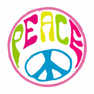 Hippie Peace Sign Statuette