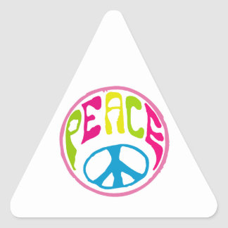 Hippie Peace Sign Stickers