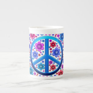 Hippie Peace Sign Tea Cup