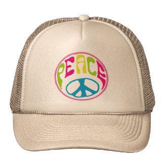 Hippie Peace Sign Trucker Hat