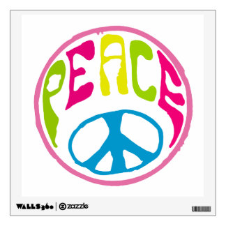 Hippie Peace Sign Wall Sticker