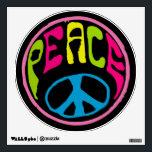 """Hippie Peace Symbol Wall Sticker<br><div class=""""desc"""">.</div>"""