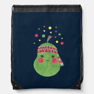 Hippie Pear Drawstring Bag
