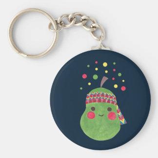 Hippie Pear Keychain