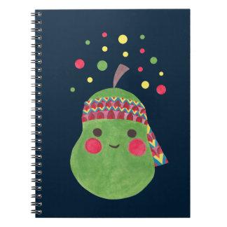 Hippie Pear Spiral Notebook