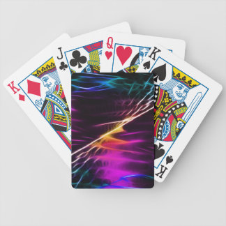 Hippie pink and purple love peace bicycle playing cards
